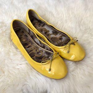 🌼 Sam Edelman Felicia yellow leather flats 7.5